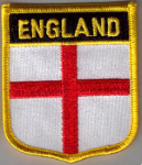 England Embroidered Flag Patch, style 07.